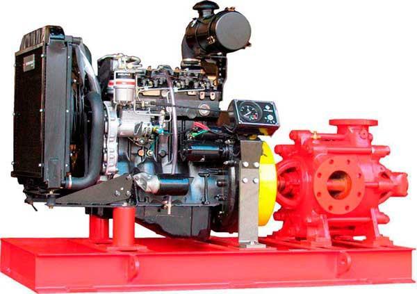 Conjunto motobombas a diesel