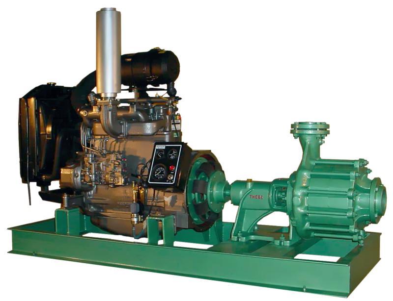 Bomba de irrigação a diesel