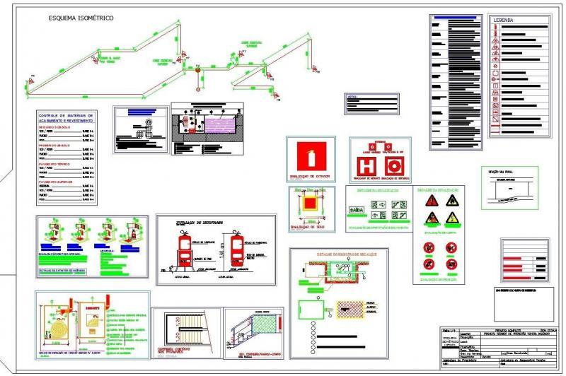 Projeto de prevenção e combate a incêndio