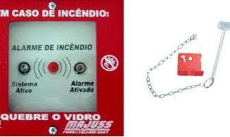 Botoeira de alarme de incêndio